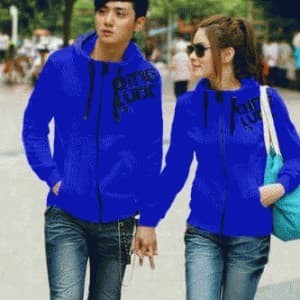jaket jacket couple king qing biru Best Seller