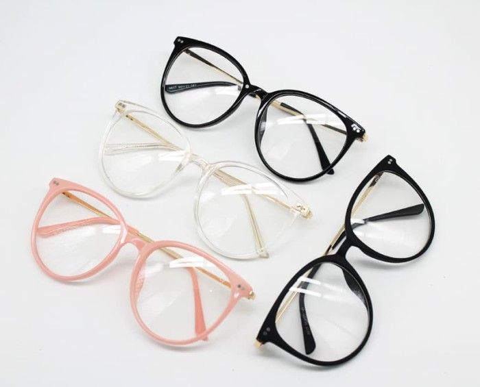 Jual Frame Kacamata Minus Fashion 2287 Bulat Pria Wanita - hitam ... b56d13b06a