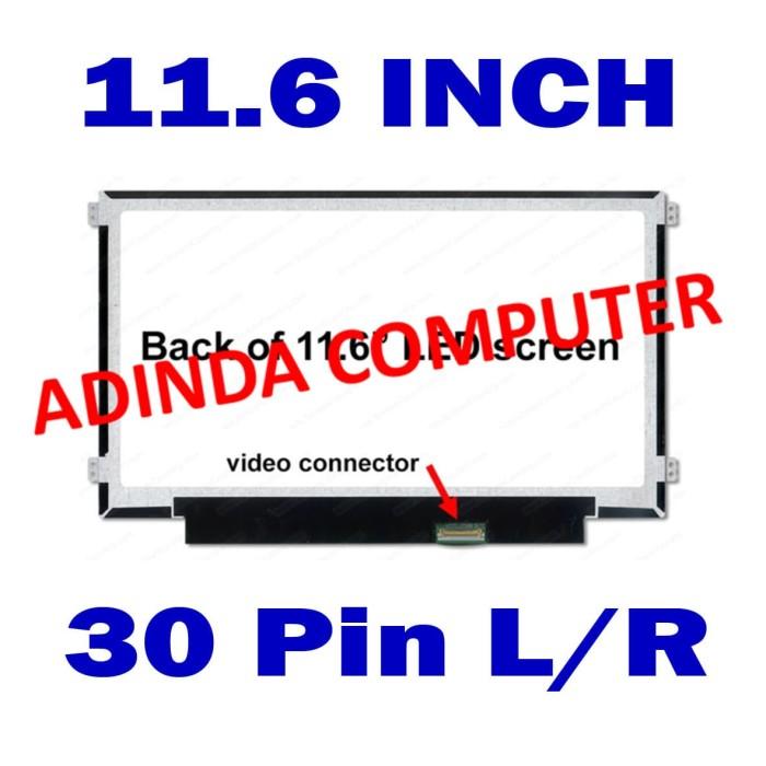 harga Led laptop acer hp asus lenovo 11.6 inch 30pin kuping pinggir Tokopedia.com