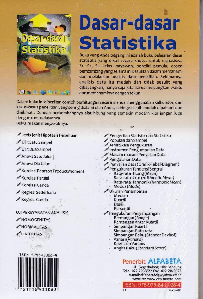 Jual Dasar Dasar Statistika Toko Buku Rafi Agency Tokopedia