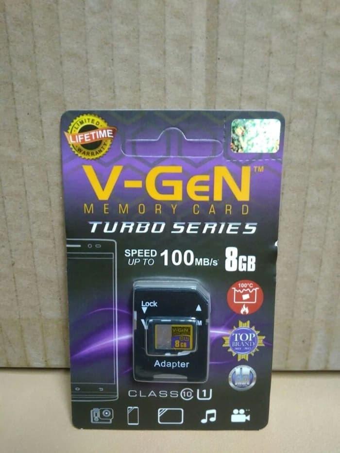 V-gen Micro SD Vgen 8GB Class 10 TURBO SERIES Memory Card 8 GB