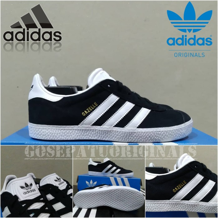 Jual Sepatu Adidas Gazelle Original Black White Shoes Casual
