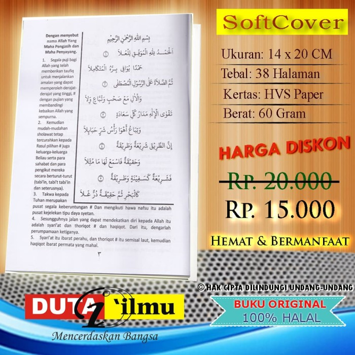 Jual Terjemah Kitab HIDAYATUL ADZKIYA' - Kab  Tuban - Duta Ilmu | Tokopedia