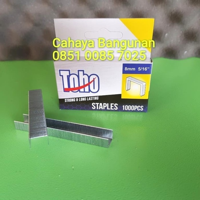 REFILL ISI Ulang Staple Gun Staples Tembak 8mm 8 Mm Toho Prohex 5/16""