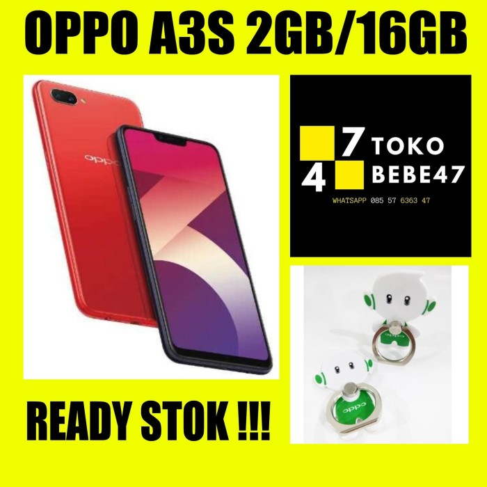 OPPO A3S RAM 2/16GB GARANSI RESMI OPPO 1 TAHUN GARANSI RESMI - Purple