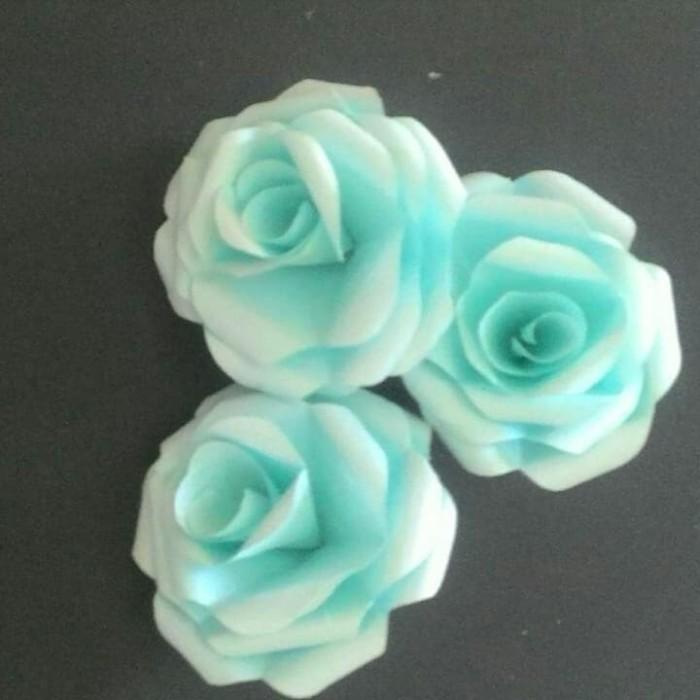 Jual Bunga Kertas Mawar Paper Flower Rose Diameter 7cm Warna