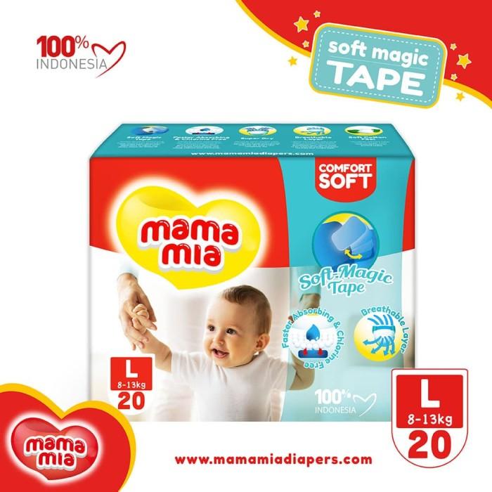mamamia baby diapers soft magic tape l20 popok model perekat