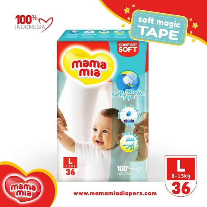 mamamia baby diapers soft magic tape l36 popok model perekat