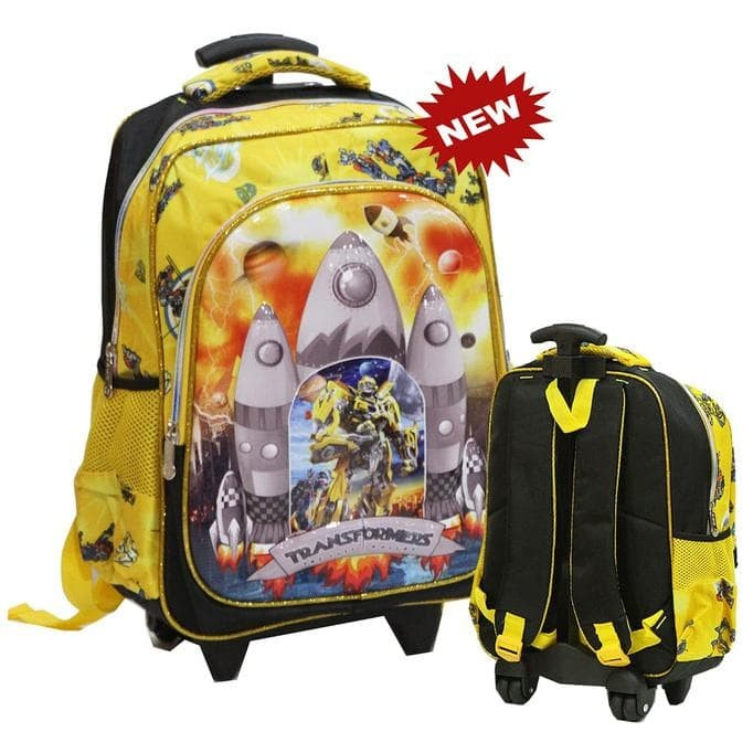 Tas Trolley Anak Sd -Import Robot Transformers Apolo 6D Timbul 2Kt