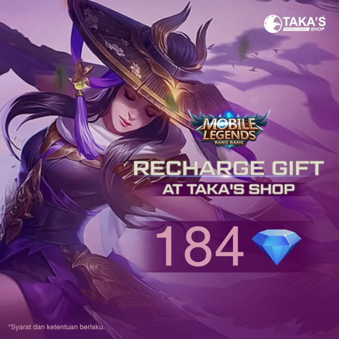 Diamond Mobile Legend - 184 Diamonds Mobile Legends - Resmi Terbaik