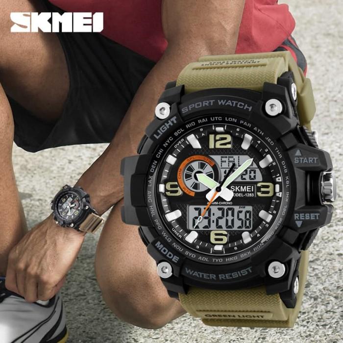 42e58e6d461 Jual Jam Tangan Pria Dual Time SKMEI Casio Men Sport Original 1283 - Brown  - DKI Jakarta - Galeri Watches | Tokopedia