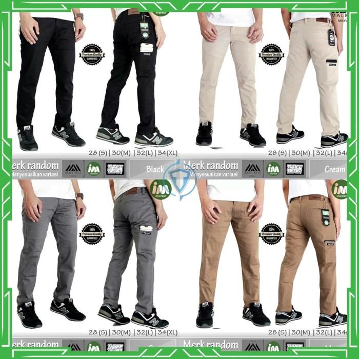 Celana Chino Pocket Slimfit Pria Impresif - Black, 28