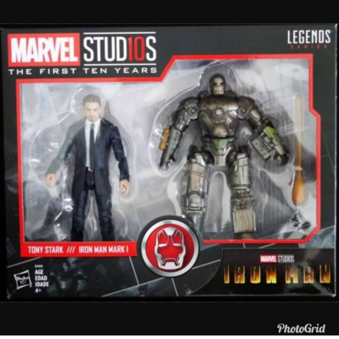 "TONY STARK IRON MAN MARK I Marvel Legends NEW 2 pack 6/"" inch figures AVENGERS 1"