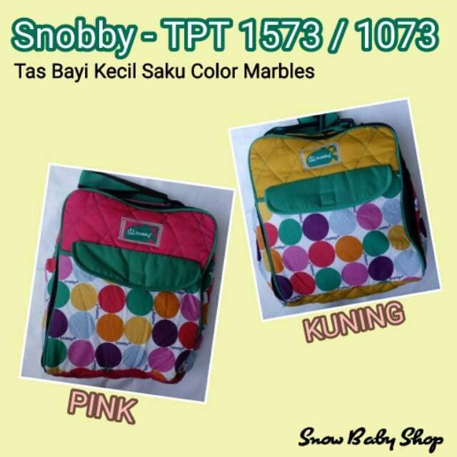 Snobby TPT 1573 / 1073 Tas Bayi Kecil Saku Color Marbles / Diaper Bag