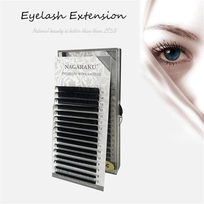 f4c9cb9b5a9 READY Nagaraku premium mink lashes ellipse lash eyelash extension bulu