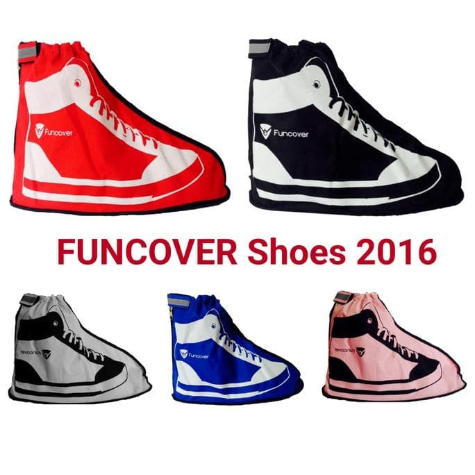 PROMO NEW FUNCOVER 2016 HITAM, COVER SHOES / JAS HUJAN SEPATU LIMITED