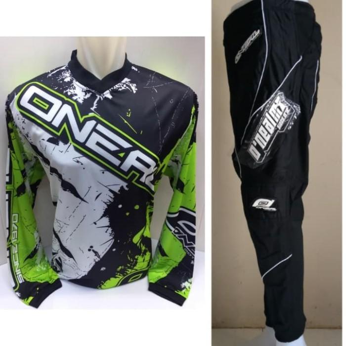 harga Jerset jersey celana trail cross adventure motocross oneal hitam Tokopedia.com