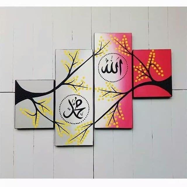 Jual Hiasan Dinding Pajangan Lukisan Kaligrafi Bunga Allah Kota Denpasar Unixhop Market Tokopedia