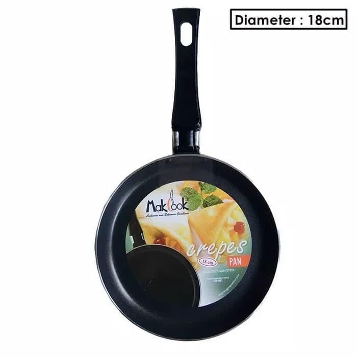 harga Crepes pan creper pan mak cook kulit lumpia kulit dadar gulung 18cm Tokopedia.com