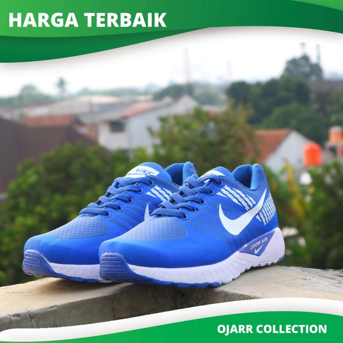 Sepatu Casual Nike Zoom Air Untuk Running Lari Pria Cowo Cowok Laki - Biru 2800ba252f