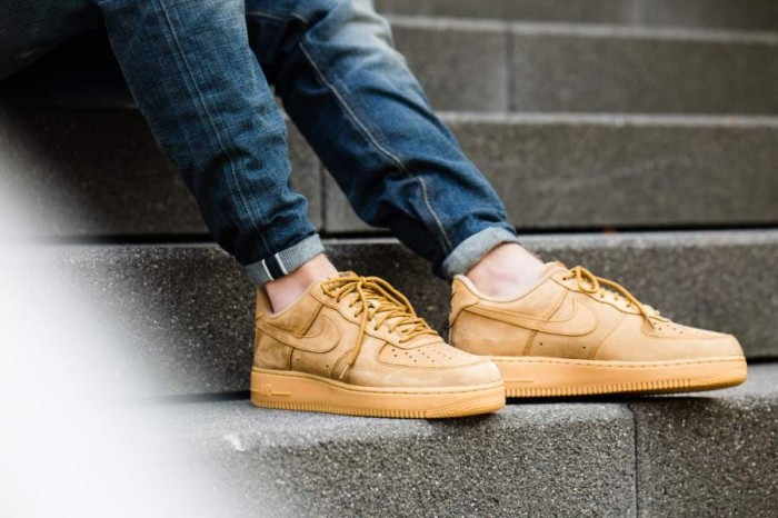 air force 1 flax on feet