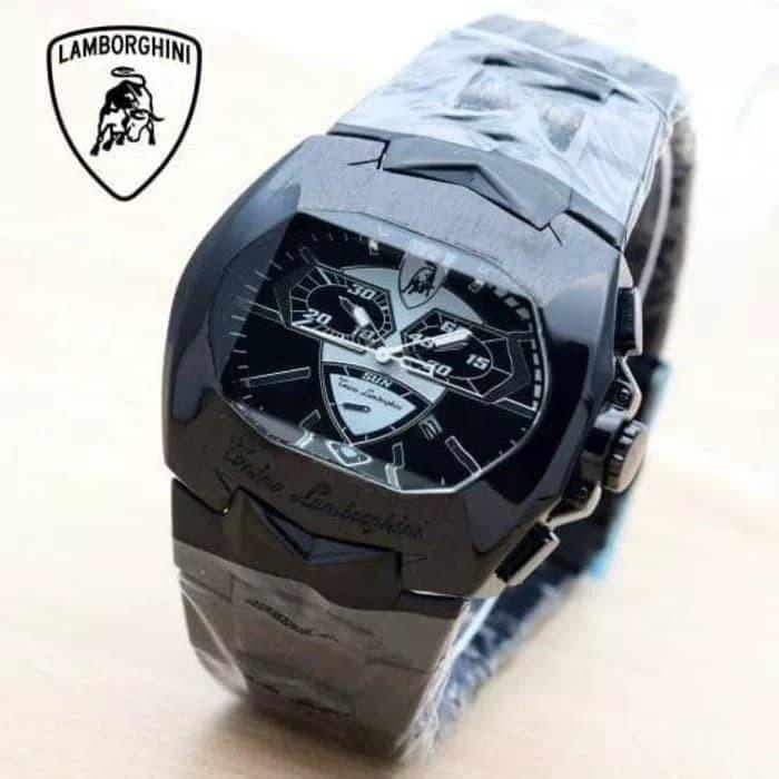 Jual Jam Tangan Untuk Pria Lamborghini Watch Stainless Steel Rantai