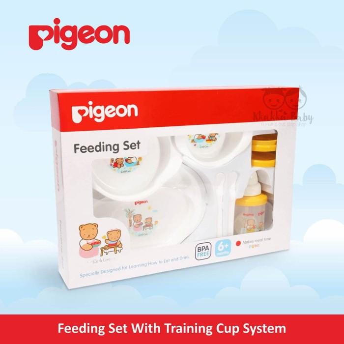 Peralatan Makan Bayi (Pigeon - Feeding Set With Training Cup System)