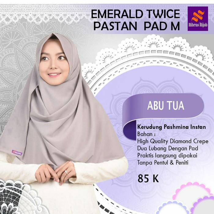 Jual Jilbab Nibras Emerald Twice Abu Tua Pashmina Instan 2 Lubang Pad Uk M Kota Tangerang Selatan Hibban Online Shop Tokopedia