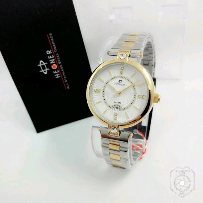 Jam Tangan Wanita Hegner H5003 Silver Gold Original Murah