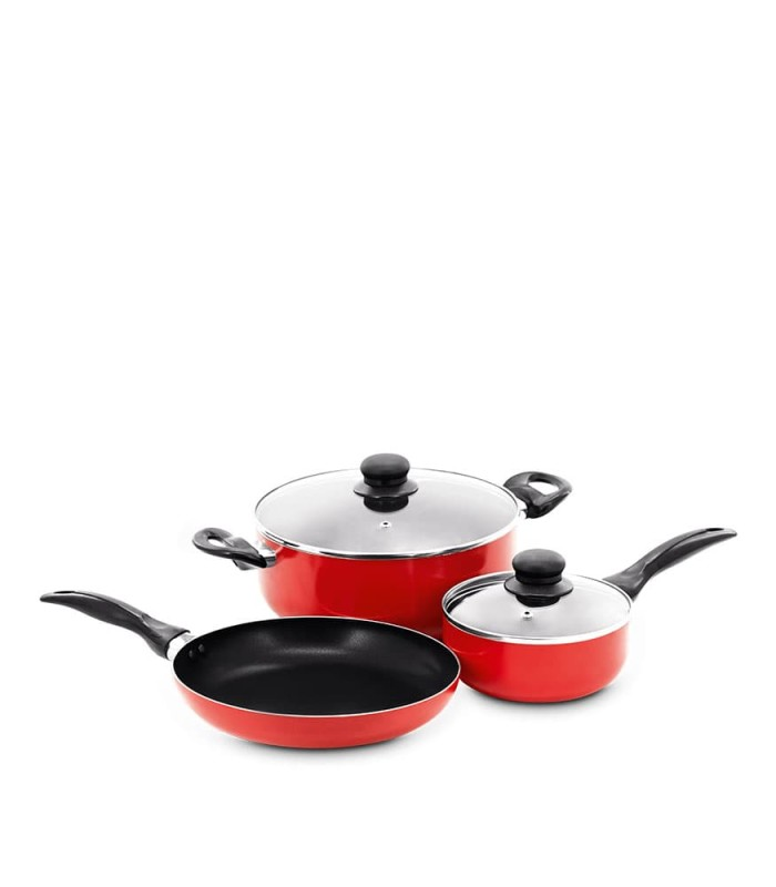 cookware set 5 pcs red-x815r1