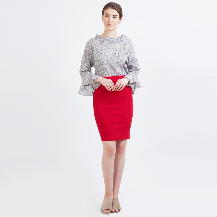 Foto Produk Blanik Skirt Melanie Red 65996 - Merah, M dari Blanik