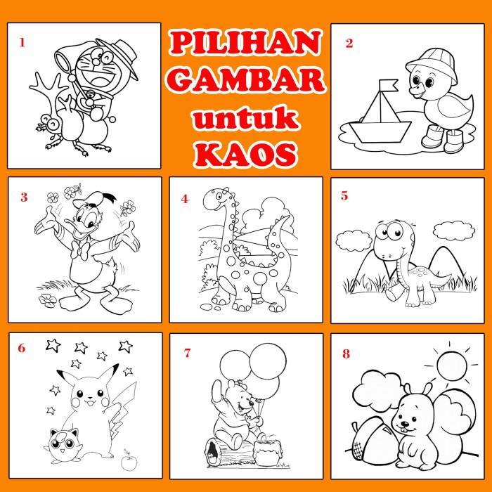 Jual Mewarnai Kaos Paket B Gambar Pikachu Kota Bekasi Mutiara