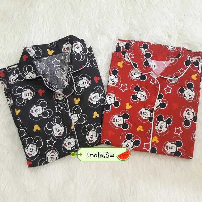 ... harga Baju tidur pakaian piyama dewasa motif mickey mouse disney katun lucu Tokopedia.com