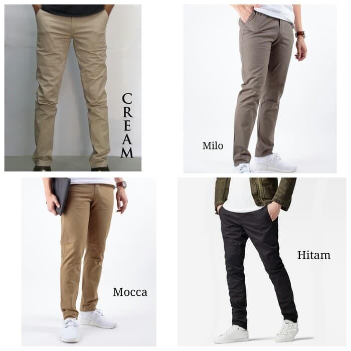 harga Ready stock - celana panjang chino zara - bahan katun stretch halus Tokopedia.com
