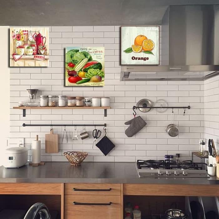 Hiasan Dinding Wall Decor Square Poster Kayu Dekorasi Rumah Dapur