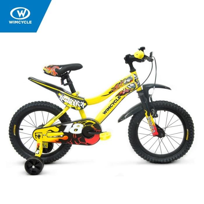 harga Sepeda wimcycle 18 inch bmx burner yellow Tokopedia.com