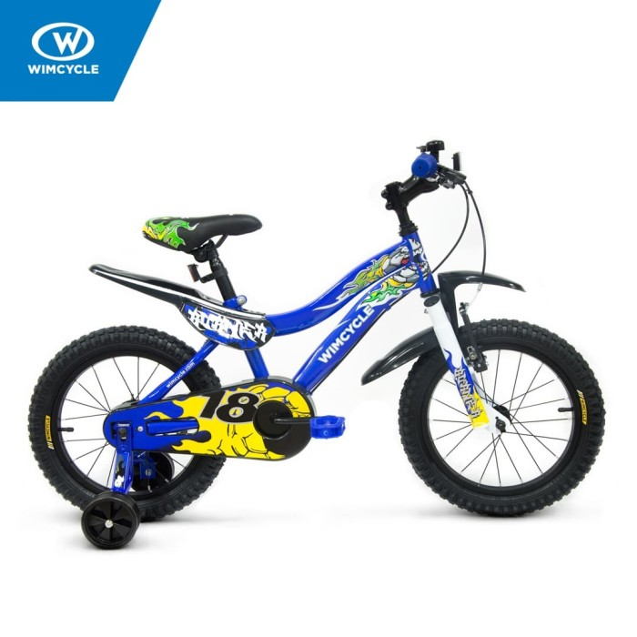 harga Sepeda wimcycle 18 inch bmx burner blue Tokopedia.com