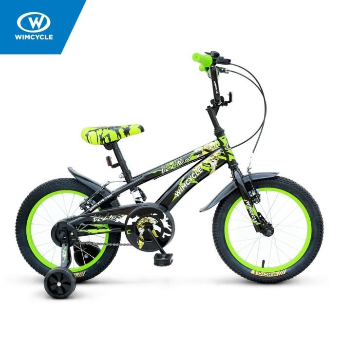 harga Sepeda wimcycle 16 inch bmx voltus black Tokopedia.com