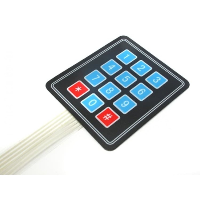 12 Key Membrane Switch Keyboard 4x3 Array Matrix keyboard Switch keypad