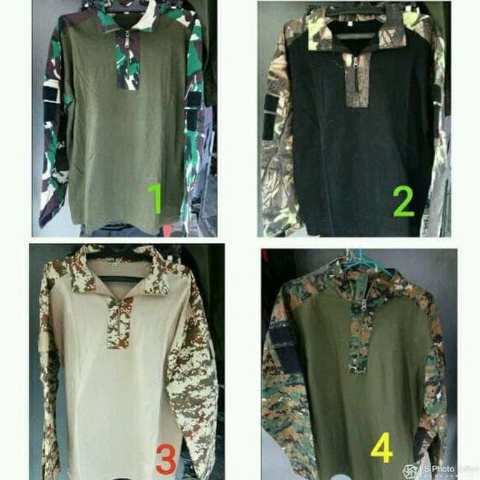 Jual Kaos Army Tactical Taktikal Baju Bdu Kaos Pria Army Murah Harga Rp 152.000