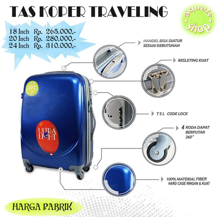 Tas koper traveling harga murah berbagai pilihan warna & model - Hitam