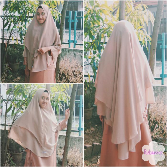 Jual Khimar Ceruti Syar I Hijab Non Pet Jumbo Babydoll Maroon Kota Bandung Rizkiaashop Tokopedia