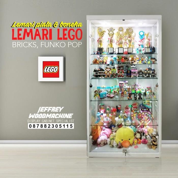 Jual Lemari Pajang Kaca Koleksi Anak Lego Piala Boneka Dki Jakarta