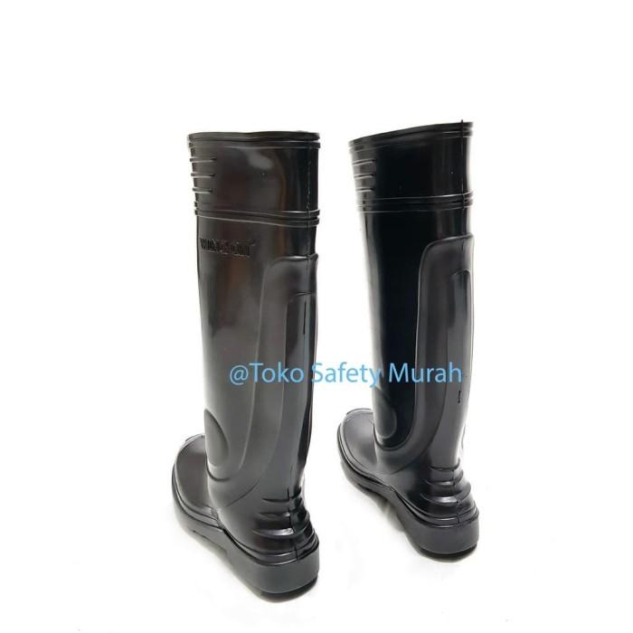 Sepatu Boot Wing On Tinggi Karet Kerja Anti Air Hujan Banjir