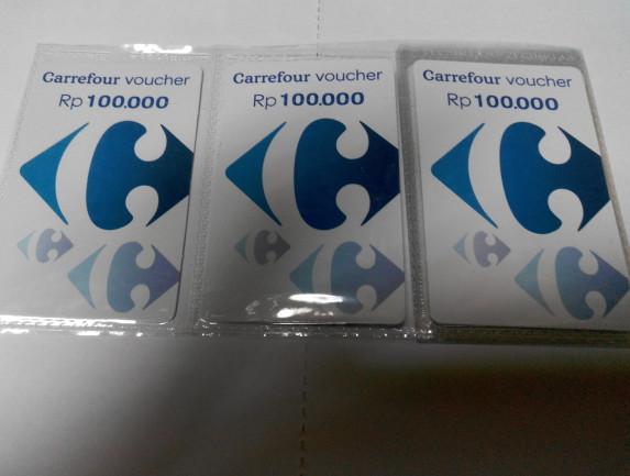 harga Carrefour voucher 100.000 Tokopedia.com