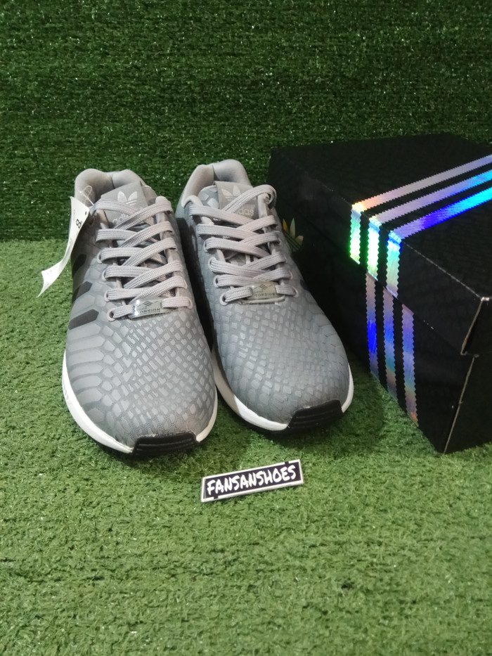 1fa4c3384be37 Jual Sepatu ADIDAS ZX Flux Xeno Reflective Grey Premium High Quality ...