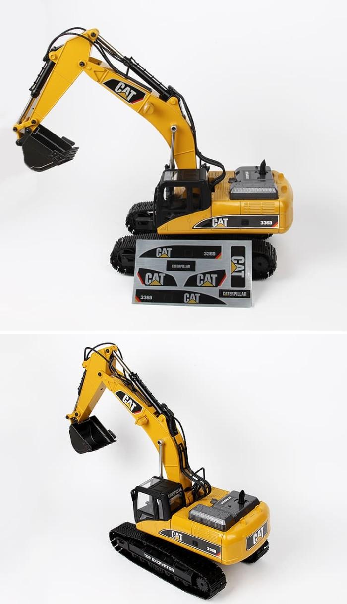 Promo rc excavator huina 580 bonus cat 336d sticker stiker cadangan