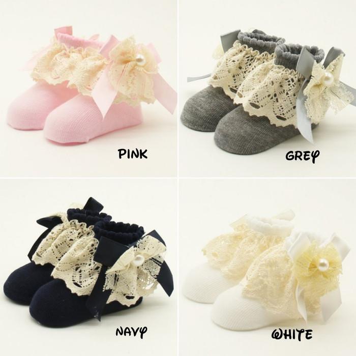 Jual Kaos Kaki Sepatu Pita Renda Bayi Perempuan Cewek 0 12 Bulan