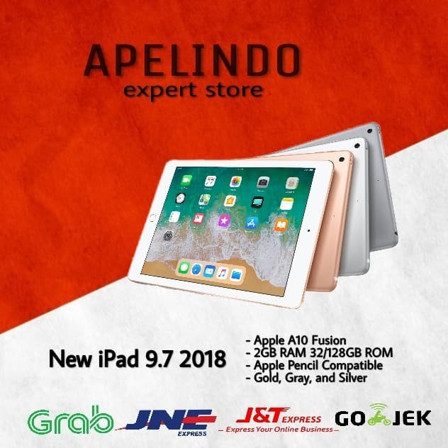 iPAD 6 WIFI ONLY 32 GB / iPAD 2018 SUPPORT APPLE PENCIL GEN1 NEW BNIB GARANSI APPLE 1 TAHUN