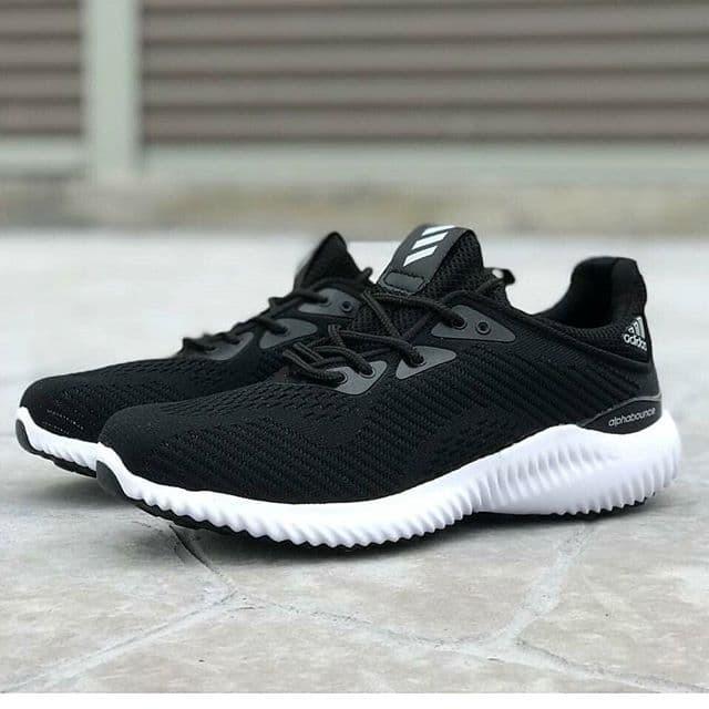 Jual Sepatu Adidas Alphabounce Grade Original Sneakers Sport Hitam ... c43c84ad6e